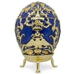 Faberge Inspired 1912 Tsarevich Russian Trinket, Jewel Box Egg