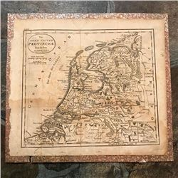 c.1800 American Made Map, The Seven United Provinces, Holland, Netherlands