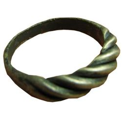 """Vintage Sterling Silver Twisted """"Viking-Style"""" Men's Riing"""