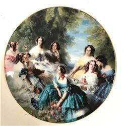 Limoges Porcelain Display Portrait Plate, 19thc Ladies