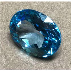 21.70ct Oval Facet Swiss Blue Topaz Gemstone