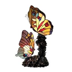 Tiffany-style Stained Glass Butterfly Table Lamp