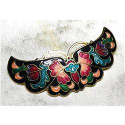 Cloisonne Butterfly Hair Barrette