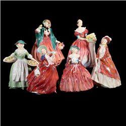 A grouping of six Royal Doulton figurines