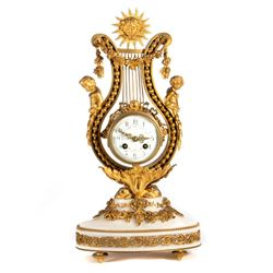 A 19th-century French ormolu clock