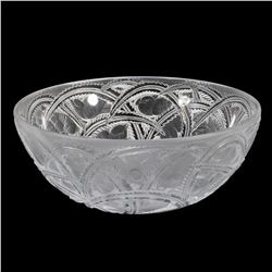 "Lalique Crystal ""Pinson Bird"" Bowl"