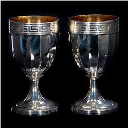 Georgian hallmark silver goblets