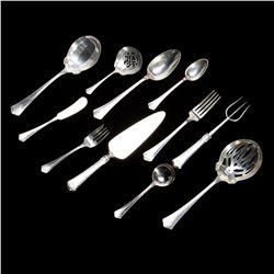 A sterling silver flatware service