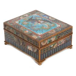 Japanese cloisonne cigarette box