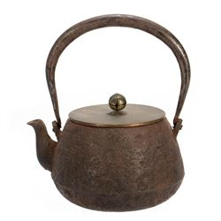 19th-century Japanese iron teapot