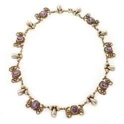 Peruzzi Florence amethyst and gilt silver necklace