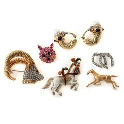 Vintage rhinestone and costume jewelry