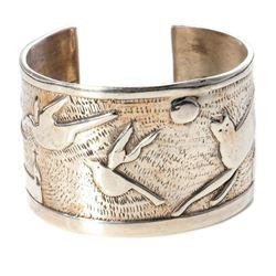 Jim Wagner sterling silver cuff bangle bracelet