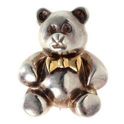 Tiffany & Co. sterling & 18k gold Teddy Bear brooch