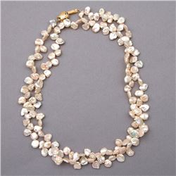 Keshi pearl and 14k gold necklace