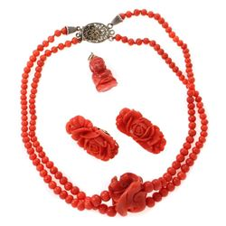 Collection of coral jewelry
