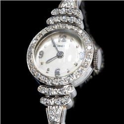 Gubelin diamond and platinum ladies wristwatch
