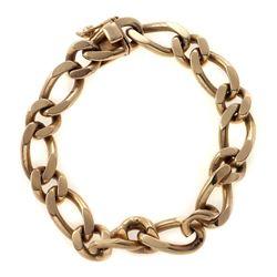 14k gold curb link bracelet