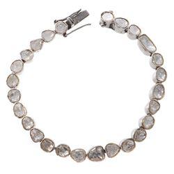 Diamond and silver line bracelet