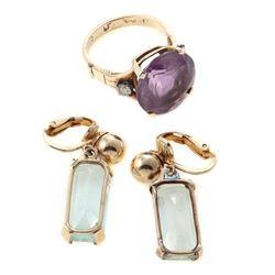 Semi-precious and 14k gold jewelry