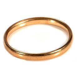 18k gold wedding band