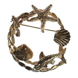 14k gold brooch