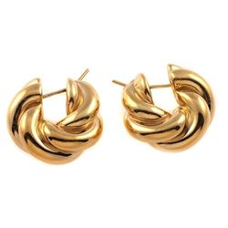 EFFEDUE 18k gold hollow hoop earrings, Italy