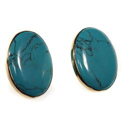 Daryln Walker turquoise and 14k gold earrings