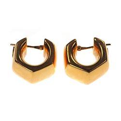 Pitti & Sisi 18k gold hollow hoop earrings, Italy