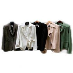 Five Giorgio Armani blazers