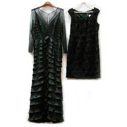 Six designer dresses