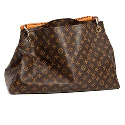 Louis Vuitton Artsy Hobo Mm canvas & leather tote