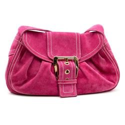 Celine pink suede shoulder bag