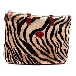 Terrida zebra & red leather tote bag