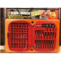 BLACK & DECKER 54 PCS SCREWDRIVER SET - NEW