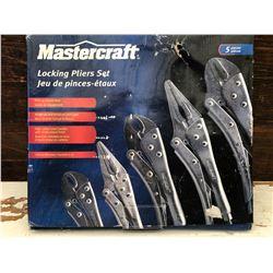 MASTERCRAFT 5 PCS PLIER SET - NEW