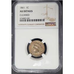 1861 1C Indian Head Penny Cent NGC AU Details