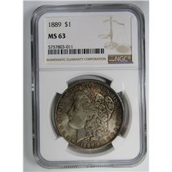 1889 MORGAN SILVER DOLLAR NGC MS63