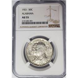 1921 Alabama Half Dollar Commem NGC AU55