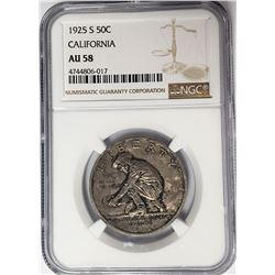 1925 California CommemHalf Dollar NGC AU58
