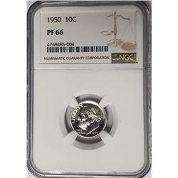 1950 10C Roosevelt Dime NGC PF66 Proof