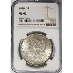 1879-P Morgan Silver Dollar $1 NGC MS62