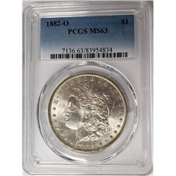 1882-O Morgan Silver Dollar $1 PCGS MS63
