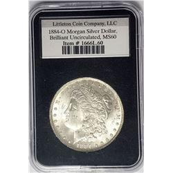 1884-O Morgan Silver Dollar $1 Littleton Coin Comp