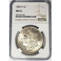 1885-O $1 Morgan Silver Dollar NGC MS61