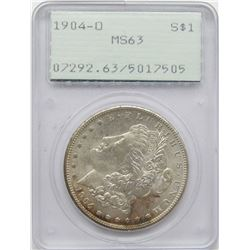 1904-O MORGAN SILVER DOLLAR PCGS MS63