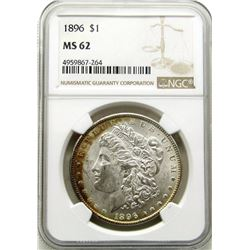 1896-P Morgan Silver Dollar $ NGC MS 62 Nice Light