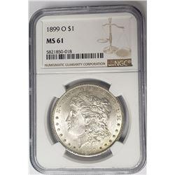 1889-O Morgan Silver Dollar $1 NGC MS61
