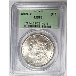 1898-O Moran Silver Dollar PCGS MS63 $1
