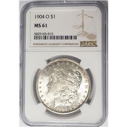 1904-O Morgan Silver Dollar $1 NGC MS61